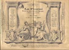 Paris 1890. La Fourmi. 6 Pages.Société d'épargne. 31 Rue du Louvre.