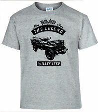 T-SHIRT, Willys Jeep ,Auto, Oldtimer, youngtimer