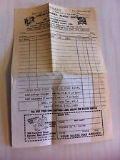 Vintage blank order form from Abracadabra Magic Shop Rahway New Jersey Tricks