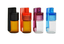Glass Jar Snuff Bullet Rocket Bottles With Spoon Sniffer container