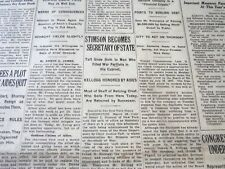 1929 MARCH 29 NEW YORK TIMES - STIMSON BECOMES SECRETARY OF STATE - NT 6629