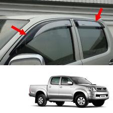 Visor Wind Deflector Weather Guard Silver For Toyota Hilux Vigo Sr5 2005 2010