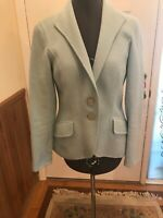 DANA BUCHMAN Powder Blue Angora Rabbit Hair/Wool  Jacket Blazer Women 2