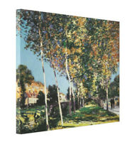 The Walk by Alfred Sisley CANVAS Gallery Wrap Fine Art Print Giclee Large 24x30