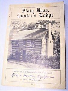 Vintage Flaig Bros Hunter's Lodge Hunting Catalog Millvale PA 1940