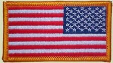 NEW US MILITARY SECURITY QUALITY ARM PATCH REVERSE AMERICAN FLAG IRON ON OR SEW