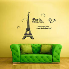 Wall Vinyl Sticker Decal Eiffel Tower Decal Paris France Words Quote Sign Z2131