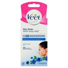 Veet Face Easy-Gel Hair Removal Wax Strips For Sensitive Skin [Pack of 20]