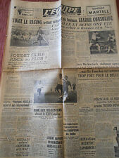 JOURNAL L'EQUIPE BOXE / RACING TOULOUSE 1948