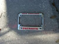 NFL NEW ENGLAND PATRIOTS MOTORCYCLE LICENSE PLATE FRAME