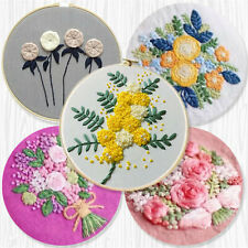Embroidery Starters Cross Stitch Kits Stamped Pattern Needlework at Home