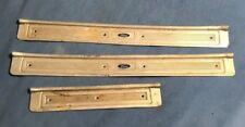 vintage FORD ALUMINUM DOOR FLOOR STEP PANEL COVER trim/molding SET OF 3 PIECES