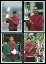 TIGER WOODS 2001 PLATINUM SP SPORTS CARD INVESTOR 4 CARD SET