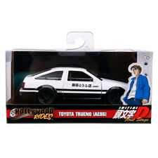 Jada 1986 Toyota Trueno AE86 Hollywood Rides Initial D Diecast White 1:32 99801