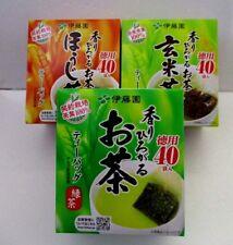 Itoen Oi ocha Japanese Tea RYOKUCHA GENMAICHA  HOUJICHA 40tea bags set of3