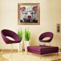 Leinwand Gemälde Schwein große Ohren Bild Kunst Poster Wand Wohnzimmer Dekor V