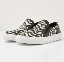 BNIB BRITISH KNIGHTS WOMENS CHIP BLACK & WHITE SLIP-ONS SIZE EU 37 RRP £44.95