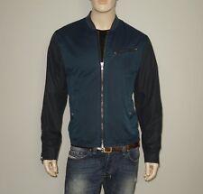 $298 NEW John Varvatos Star USA Jacket in Dark Indigo Size LARGE Cotton Blend