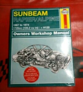 sunbeam rapier / alpina Manual de taller Workshop HAYNES