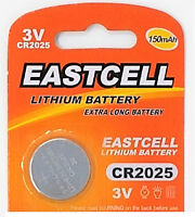 50 x CR2025 3V Lithium Batterie 150 mAh( 10 Blistercard a 5 Batterien ) EASTCELL