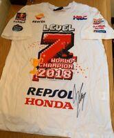 Marc Marquez signed official Repsol Honda 2018 World Championship Shirt + COA