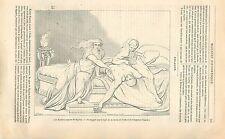 La mort de l'Empereur Claude par Xavier Sigalon Peintre GRAVURE OLD PRINT 1838