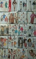 Vintage Sewing Patterns 70's & 80's Blouses Jackets Pants Skirt -U Pick! Lot #10