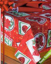 Tovaglia Copritavola X 12  NATALE copritavolo rosso stella di natale cotone