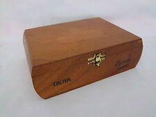 Cigar Box Empty Wood Dominican Republic Imported Casa Real Wooden Box Hinge Top