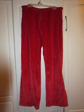 NWOT Womens Red Velvet/Velour Work Out Drawstring Pants by Old Navy Size XS
