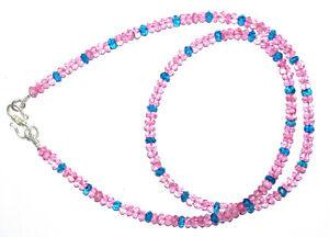 "Sky Topaz Gemstone 925 Fine Silver 4.5-5mm Round Cut Beads 14"" Strand Necklace H"