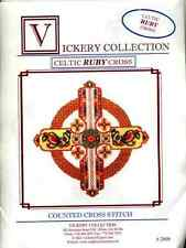 Vickery Collection Celtic Ruby Cross - Cross Stitch Pattern