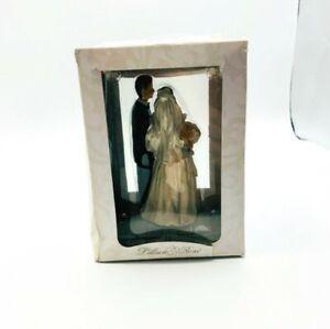 "Lillian Rose Wedding Figurine Bride & Groom Caketop Decor Caucasian 5"" Tall NEW"