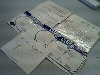 Lot Of Vintage NOS Carded Gilt & Silver Dauphine/Domino Hr/Min Hands