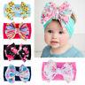Hair Accessories Newborn Headwraps Baby Nylon Headband Big Bow Knot Turban