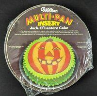 New WILTON JACK-O' LANTERN Multi-Insert Cake Pan 1976 VTG 70s Halloween Pumpkin