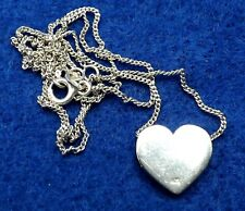 Sterling Silver Ladies Heart Pendant & Necklace