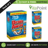 DUZZIT DRAIN AWAY DRAIN UNBLOCKER ( EACH PACK CONTAINS 3 SACHETS) 40G/ PACK OF 3
