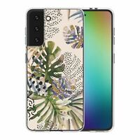For Samsung Galaxy S21 Silicone Case Nature Leafs Art Print - S6922
