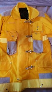 JANESVILLE LION Firefighter Bunker Turnout Coat Nomex, Gore-Tex, Lots of Leather
