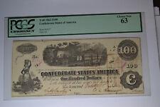 T40 $100 1862. Pcgs Choice New 63
