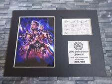 The Avengers - Signed Autograph Display - Iron Man, Spider-Man, Thor, Loki, Hulk