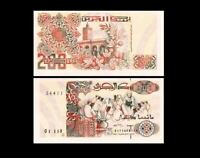 Algeria 1992 100 /& 200 Dinars //Warriors Banknote set of 2 UNC Koranic School