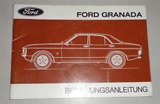 Betriebsanleitung Handbuch Ford Granada MK. 1 - Stand 11/1976