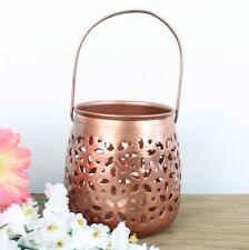 Lantern Copper Tea Light Holders Metal Holder Candle Wedding Tealight Vintage