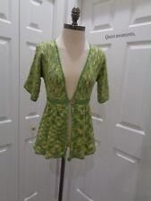 CHELSEA & VIOLET Crochet BOHO Cardigan Button Open Sweater Top Easter SZ XS