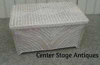 60008 Wicker Blanket Chest Storage Cabinet Trunk