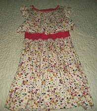 Tea Collection Creme S/S Multi-coloured/Geometric- print Dress - Size 10