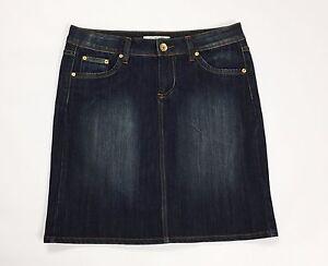 Fascino jeans mini gonna blue bassa donna w36 tg 50 blu usato skirt dress T2224