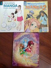 Mastering Manga 2 Drawing People Magical girls books lot